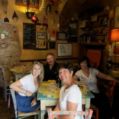 Ellen, Kelly, Martin and Taylor at Osteria del Matto May 2012
