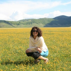 Giselle At Castelluccio Blossoming