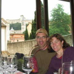 Mark and Marion at Vini nel Mondo Spoleto 2009